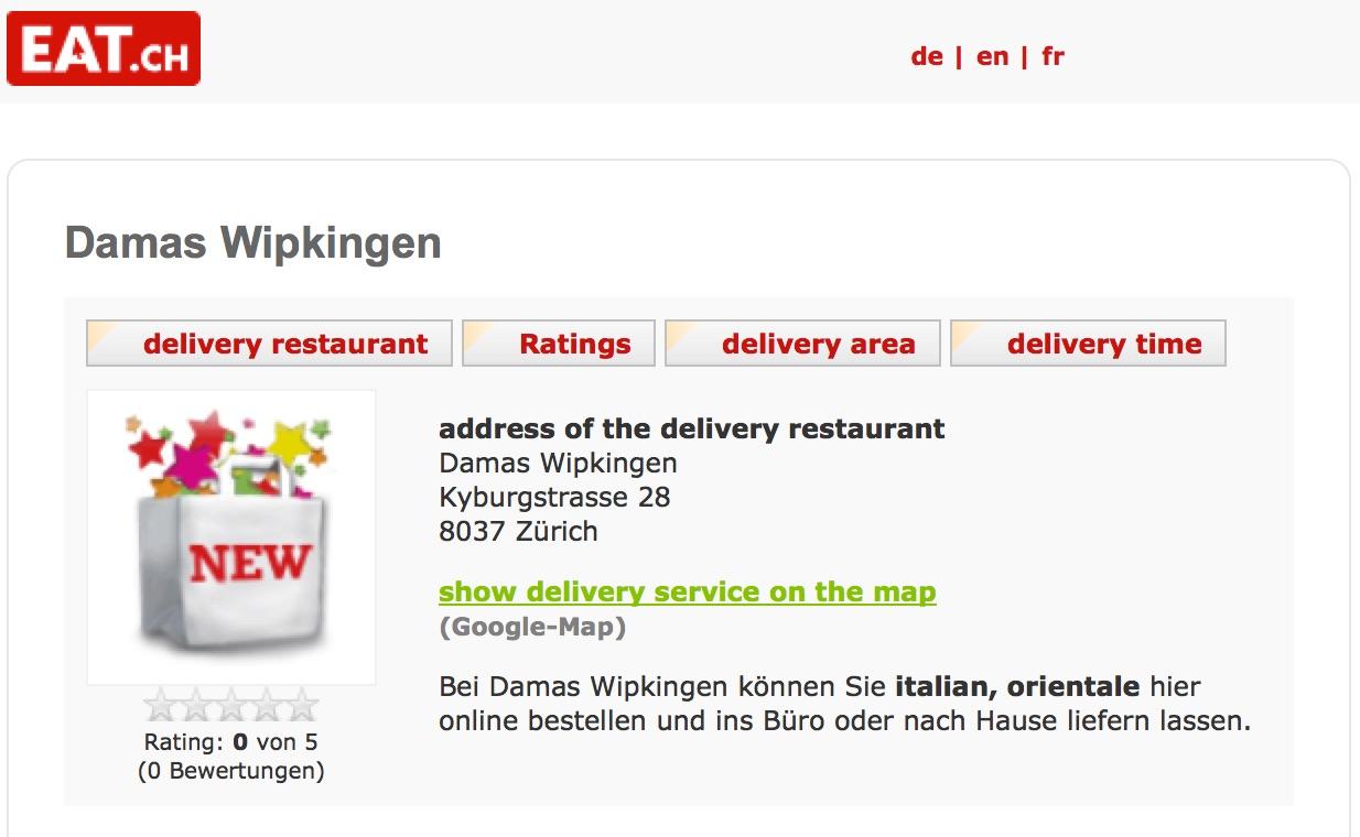 Damas bei EAT.ch
